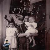 Ейск. У елки кв. Бахметиных, около 1914 года