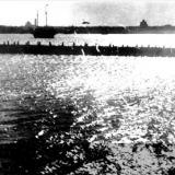 Ейск. Панорама города с правого мола. 1916 год.