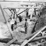 Ейск. Строительство правого пирса порта, до 1917 года
