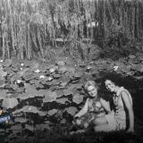Краснодар. Дендрарий, у пруда с лотосами, 1974год