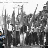 1-е Мая 1953 года. Знаменосцы СШ №8