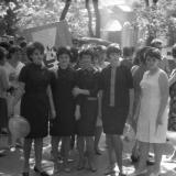 Краснодар. 1 мая 1965 года. Перед началом демонстрации. Студентки 1-го курса физмата (отд. физики) Краснодарского пединститута