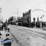 Екатеринодар. 1909 год. 14 мая. Войсковой круг. Начало процессии на Красной улице по дороге в Крепостную церковь.