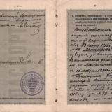 Екатеринодар. Паспорт Макарова Владимира Михайловича, 1915 год. Лист 8-9