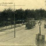 Екатеринодар. Соборный бульвар (вид на юг от Гимназической лицы)