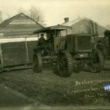 Екатеринодар. Трактор везет домик. 22 января 1919 года.