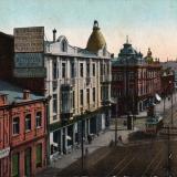 Екатеринодар. Угол улиц Екатерининской и Гоголевской, вид на юг