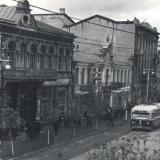 Краснодар. Улица Сталина между улицами Ворошилова и Гоголя, вид на северо-запад. 6 апреля 1952 года