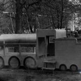 Краснодар. Паровоз в Первомайской роще, конец 60-х.