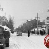 Краснодар. Угол улиц Красной и Горького, вид на север, 1962 год.