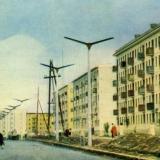 Краснодар. Улица Карла Либкнехта в новом районе города, 1965 год