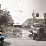 Краснодар. Вид на перекрёсток улиц Сталина и Пролетарской. 1951 год.
