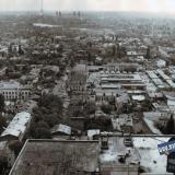 Краснодар. Вид на восточную часть города от перекрёстка улиц Красной и Свердлова. 1986 год.