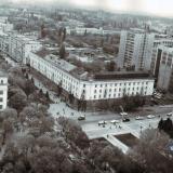 Краснодар. Вид на Юго-западную часть города от Первомайского сквера. 1986 год.