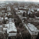 Краснодар. Вид на Южную часть города от перекрёстка улиц Красной и Пашковской. 1986 год.