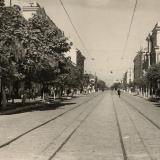 Краснодар. Воскресным, сентябрьским утром на улице Красной. 1949 год.