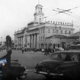 Краснодар. Железнодорожный вокзал, 50-е годы.