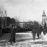 """Екатеринодар. Парад """"Корниловских полков"""" в Екатеринодаре, 1919 год"""