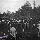 Екатеринодар. Поднятие крестов на главы Семипрестольного собора, 14 сентября 1911 года.