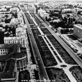 Краснодар. Вид на улицу Красную от Политехнического института, 1967 год