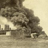 Екатеринодар. Пожар нефтяного завода, 1914 год