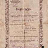 Свидетельство об окончании школы №8, 1926 год