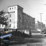 Краснодар. Угол улиц Мира и Гудимы, вид на север, 1952 год