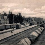 Екатеринодар. Вид на вокзал и железнодорожный путь