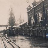 Екатеринодар. Встреча генерала Деникина на пероне железнодорожного вокзала.