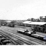 Екатеринодар. Железнодорожный вокзал, вид со стороны перрона