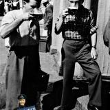 Краснодар. У пивного ларька на перекрёстке улиц Красной и Ленина, 1956 год
