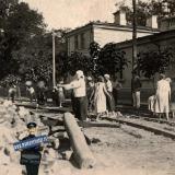 Краснодар. Перекресток Рабфаковской и Медведовской (Гимназической и Кирова), июль 1934 года