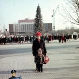 Краснодар. Новогодняя елка на площади Октябрьской Революции, 1972/1973 гг.