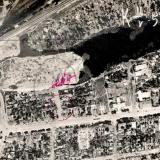 Краснодар. Аэрофотосъёмка. 11 мая 1957 год. Район Вишняковского рынка
