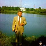 Краснодар. Архитектор В.К. Мацагор возле Карасуна, конец 1970-х