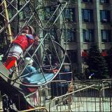 """Краснодар. Аттракционы в скверике """"Со слоном"""", 1987 год"""