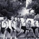 Краснодар. Детская делегация из Чехословакии в парке им. М. Горького, 1967 год