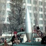 """Краснодар. Детская площадка в скверике """"Со слоном"""", зима 1972/1973 гг."""