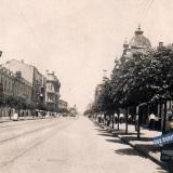 Краснодар. Красная, вид на север от ул. Комсомолькой, 1936 год