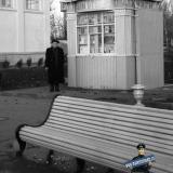 """Краснодар. Ларь """"Книги"""" Книготорга на ВДНХ, осень 1956 года"""