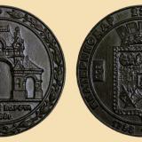 Краснодар. Медаль настольная. Посвящена 220-летию основания города Екатеринодара/Краснодара.