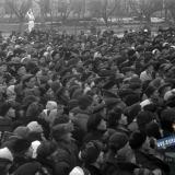 Краснодар. Митинг, посвященный освобождению Краснодара, февраль 1943 года