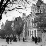 Краснодар. На перекрёстке Ворошилова и Красноармейской, вид в строну Красной