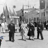 Краснодар. На Первомайской демонстрации Краснодарский нефтяной техникум. 1953 год.