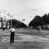Краснодар. На ул. Сталина. Вид на юг от ул. Буденного. 1952 год