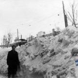 Краснодар. На улице Коммунаров, вид на юг. Снежная зима 1954 года.