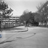 Краснодар. На улице Октябрьской. Перекрёсток с Орджоникидзе, вид на запад.