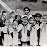 Краснодар. Начальная школа № 38  угол ул. Рашпилевской, 40 и ул. Ленина, 38, 1957 год