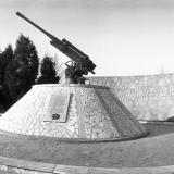 Краснодар. Памятник зенитчикам возле КубГУ, 1987 год