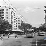 Краснодар. Перекресток ул. Красной и ул. Мира, вид на восток, 1971 год